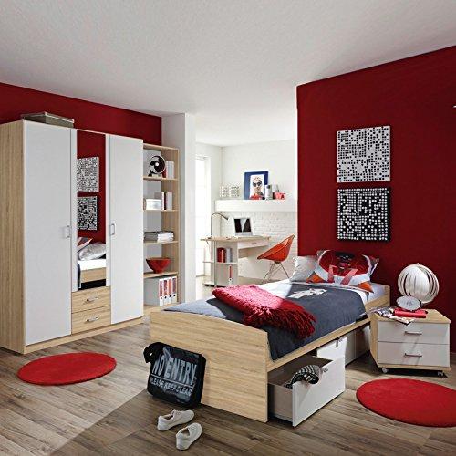 Jugendzimmer »PONTIE221« Eiche Sonoma Nachbildung, alpinweiß