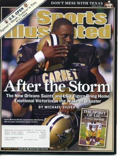 Sports Illustrated September 19, 2005 New Orleans Saints & LSU Tigers after Katrina, University of Texas Longhorns Football