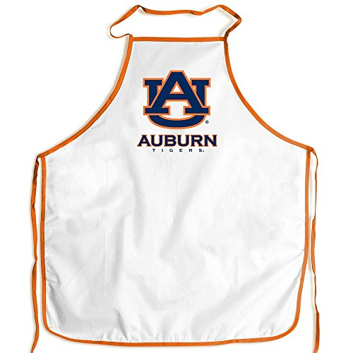 Auburn Tigers WinCraft White Orange Polyester Tailgating Barbeque Cooking Apron by WinCraft
