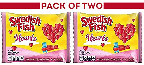 Swedish Fish Valentines Hearts ( Pack of 2 ) 10-Ounce Bags