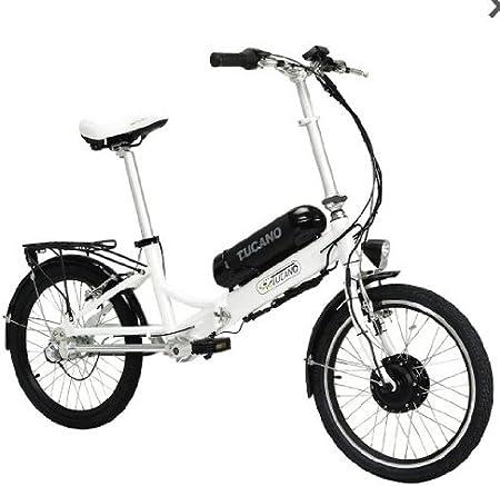 TUCANO EOS - Bicicleta eléctrica deportiva (Motor 250W - 36V) - Color blanco, talla L: Amazon.es: Deportes y aire libre