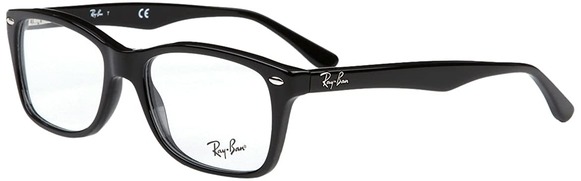 TALLA 50. Ray-Ban RX5228 Gafas en color negro brillante RX5228 2000 50