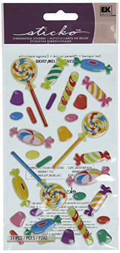 Candy Stickers (Puffy Dimensional Stickers-Sweet Tooth)
