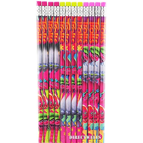 Trolls Wood Pencils Pack