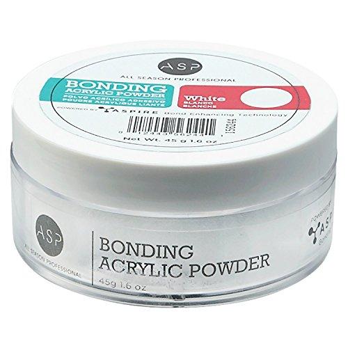 ASP White Bonding Acrylic Powder 1.6oz. by ASP