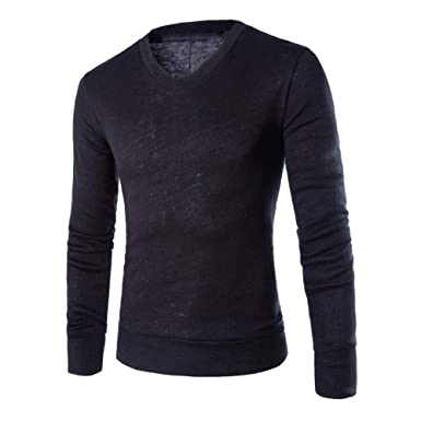 New Years Eve Gifts New Cotton Sweater Men Long Sleeve Pullover