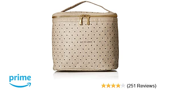 0de4a506a Amazon.com: Kate Spade New York Lunch Tote, Deco Dots (Out To Lunch),  Canvas: Kitchen & Dining