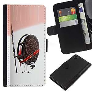 EJOY---La carpeta del tirón la caja de cuero de alta calidad de la PU Caso protector / Sony Xperia Z2 D6502 / --Cookies Guardián Guerrero Soldado Dulces de Azúcar