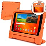 Samsung Galaxy Tab 4 7.0 case for kids [SHOCK PROOF KIDS TAB 7 CASE] COOPER DYNAMO Kidproof Child Tab 4 7 inch Cover for School Boys Girls | Kid Friendly Handle Stand, Light, Screen Protector (Orange)