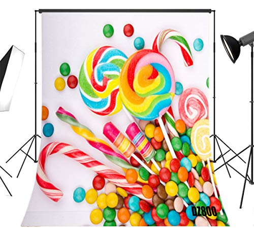 LB Sweet Candy Backdrop for Photography 5x7ft Kids Child Newborn Baby Shower Birthday Party Photo Background Studio Prop Vinyl Customized DZ800 -