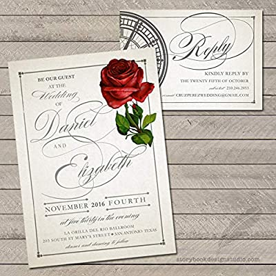 10 50 OR 100 WEDDING RSVP CARDS SUPPLIED WITH ENVELOPES
