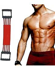 Winline Verstellbarer Chest Expander -Brust Expander - Trainingsgerät für Muskeln - 5 Strings mit Sicherheits-Ummantelung
