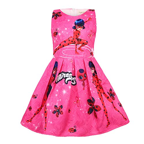 Crazy Gotend Kids Girls Ladybug Party Sleeveless Cotton