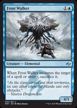 Frost Walker (Magic: the Gathering - Frost Walker (025/185) - Fate Reforged)