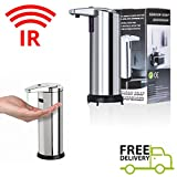 Stainless Steel Hands Free/ IR Sensor Fully Automatic Touchless Soap Liquid Dispenser/ touch-free operation #09