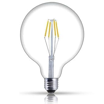 Bonlux No Parpadeo 4W G125 E27 Regulable Vela Vintage Edison Bombilla LED Decorativa con 400 Lúmenes
