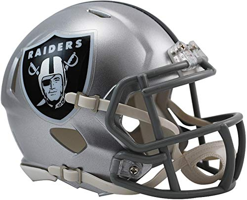 - Sports Memorabilia Riddell Oakland Raiders Revolution Speed Mini Football Helmet - NFL Mini Helmets