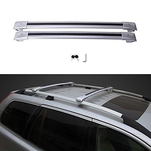 MotorFansClub Luggage Rack Top Roof Rack Cross Bar Crossbar with Locking Key for Volvo XC90 XC 90 2015 2016 2017 US Stock (Cargo Xc90 Volvo Roof)