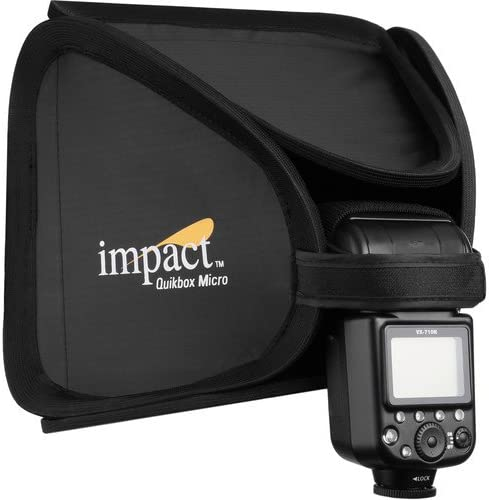 9 x 9 Impact Quikbox Micro On-Camera Softbox 6 Pack