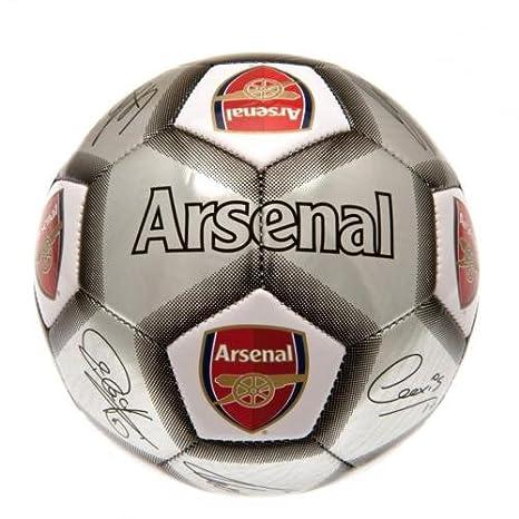 Balón de fútbol del Arsenal F.C. tamaño 5, Signature Ball - Silver ...