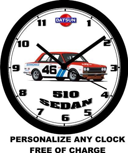 DATSUN 510 SEDAN RACE CAR WALL CLOCK-Free USA Ship