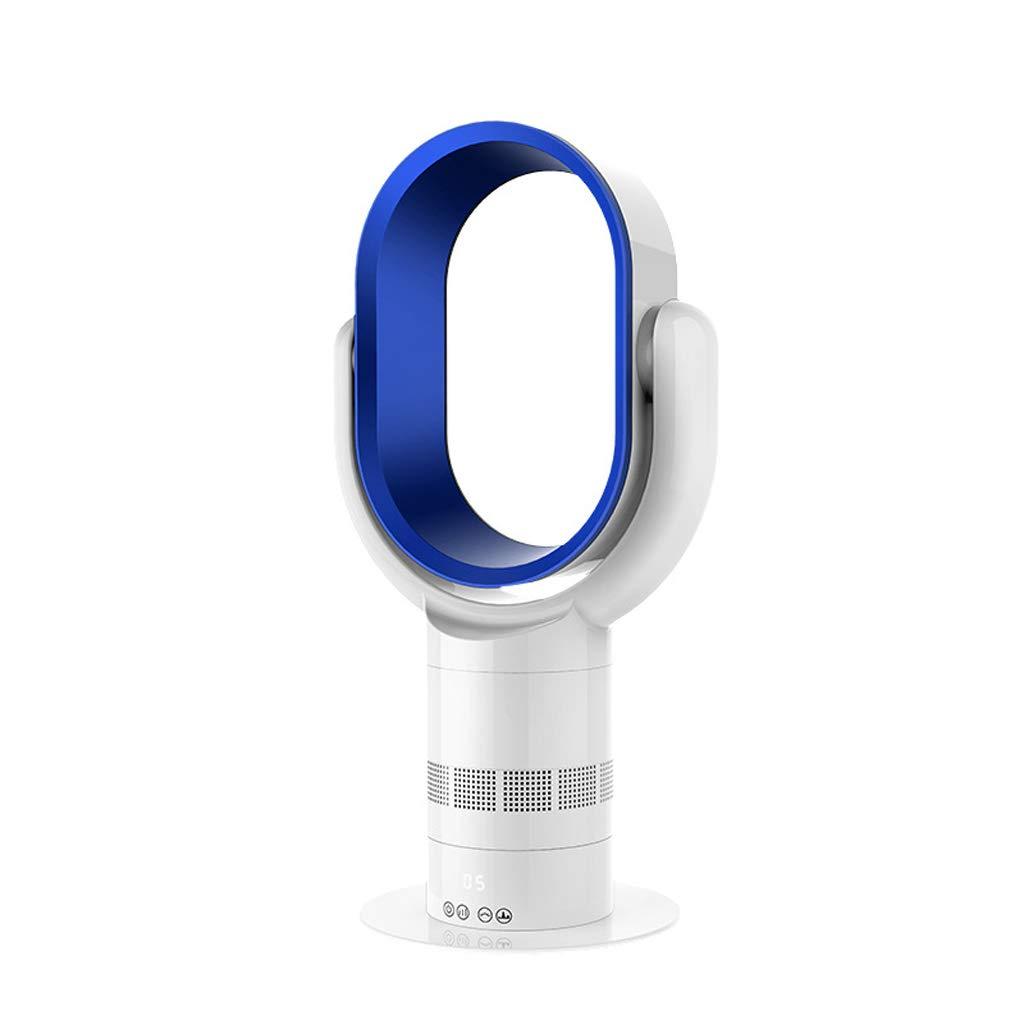 【新作からSALEアイテム等お得な商品満載】 ポータブルリーフレスファン Blue、2Aタッチスクリーンリモコンタイミングデスクトップ楕円形の子供の安全ファン Blue B07H32MBL8 B07H32MBL8, Hana momo:df9a49e9 --- arianechie.dominiotemporario.com