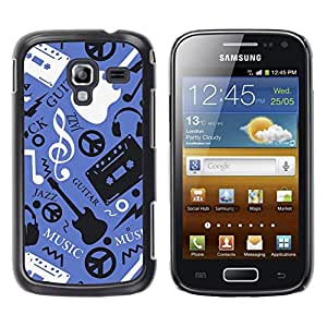 Exotic-Star ( Music Guitar Hippy Pattern ) Fundas Cover Cubre Hard Case Cover para Samsung Galaxy Ace 2 I8160 / Ace2 II XS7560M