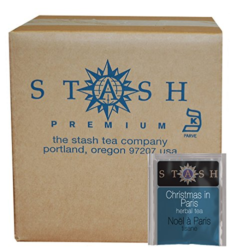Stash Tea Teabags Christmas In Paris 100 Count Box of Tea Bags in Foil (Best Tea In Paris)