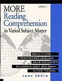 More Reading Comprehension in Varied Subject Matter Level 1, Jane Ervin, 0838806066