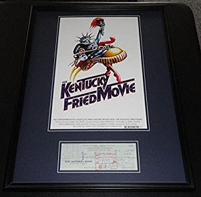 Bill Bixby Signed Framed 1968 Check & Kentucky Fried Movie Poster Disp