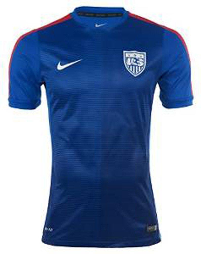 Nike USAメンズSquadra半袖Prematch Top 2 Soccer Jersey (ブルー) B00TKIZ5AS Large