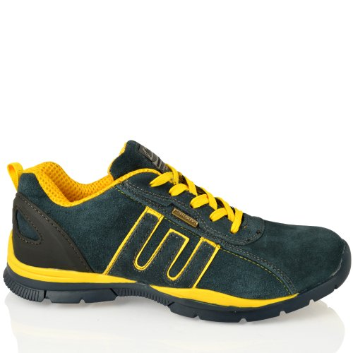 3 Trainers Lace Navy Safety Steel Sizes Lightweight yellow Up Womens 8 Groundwork Toe Uk CwSTqnvxFW