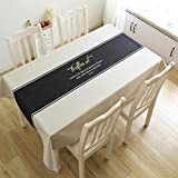AMCER English simple Rectangle tablecloth creative restaurant living room dust cover Cotton Linen Cloth art Tabletop Decoration,Washable