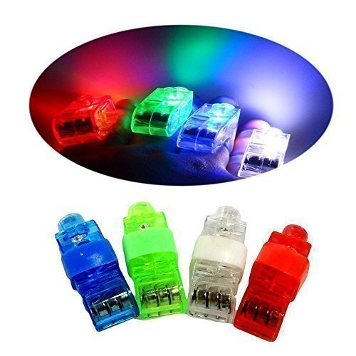CALIFORNIA CADE ELECTRONIC Finger Lights Bright LED Rave Laser Assorted Toys, Pack of 48