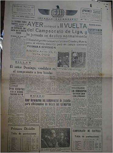GOL DIARIO DEPORTIVO. Año 1 núm 115 lunes 16 diciembre 1940 ...