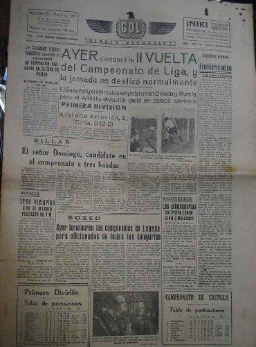 GOL DIARIO DEPORTIVO. Año 1 núm 115 lunes 16 diciembre 1940: Amazon.es: HERNANDEZ USOBIAGA Valeriano (Director): Libros