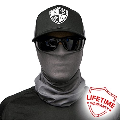 SA Company Face Shield Micro Fiber Protect From Wind, Dirt and Bugs. Worn as a Balaclava, Neck Gaiter & Head Band For Hunting, Fishing, Boating, Cycling, Paintball and Salt Lovers. - Sports N Ski Sun