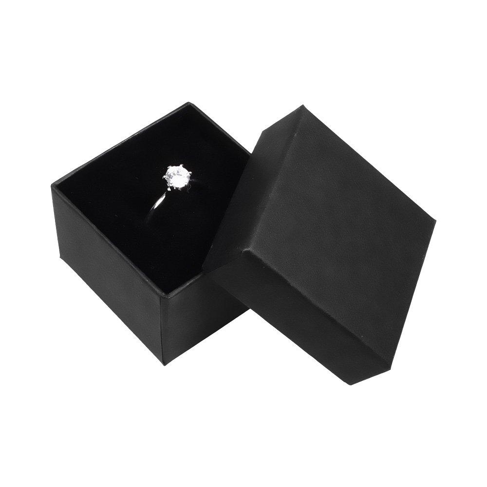Astuccio di alta qualità per anello Per matrimonio/ per San Valentino/ per anello di fidanzamento senza colore: Basic schwarz cod. 1902-16429 Autiga