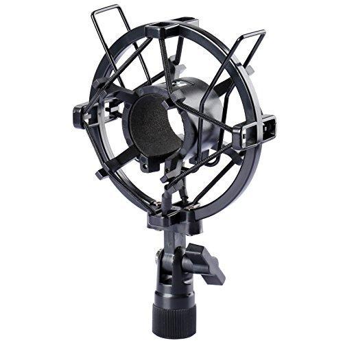 (Dophee Condenser Microphone Shock Mount Stand Holder Clip Black)