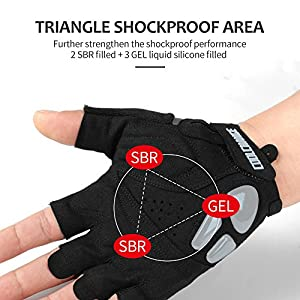 Cycling Gloves – CoolChange Bike Gloves Liquid Gel Pad Shockproof |Flexible Wrist Band | Breathable Mountain Bike Gloves Biking Bicycle Gloves Sports Gloves for Men Women (White XL: 8.27''-8.66'')