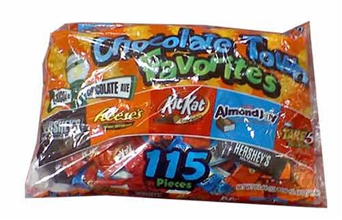 Chocolate Town Favorites Halloween Chocolate Candy 115 Count -