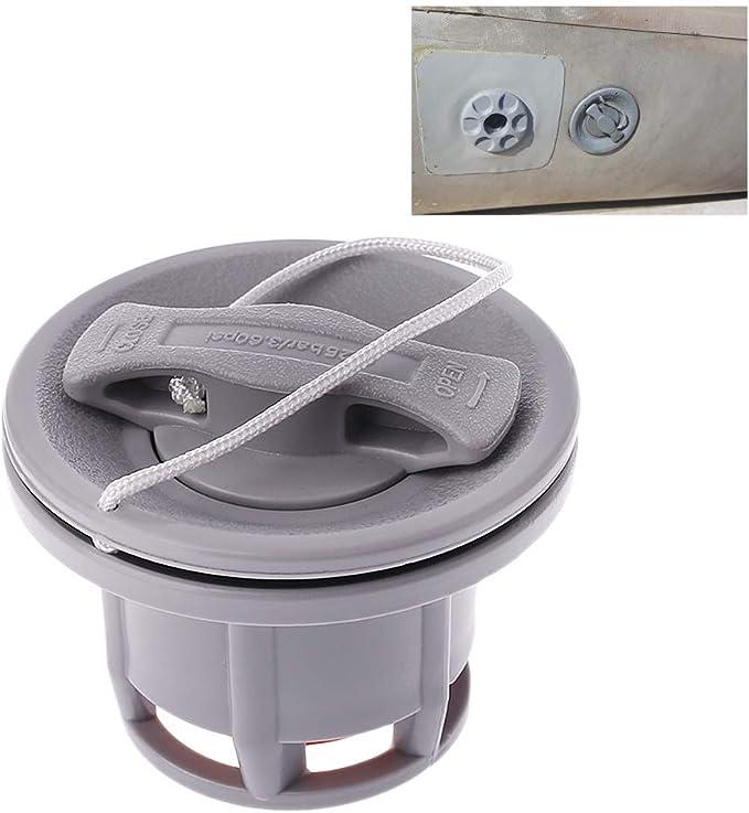 Canoa BouT V/álvula de Barco Inflable 8 Agujeros para Kayak Accesorios tap/ón de Aire en Espiral Adaptador antifugas