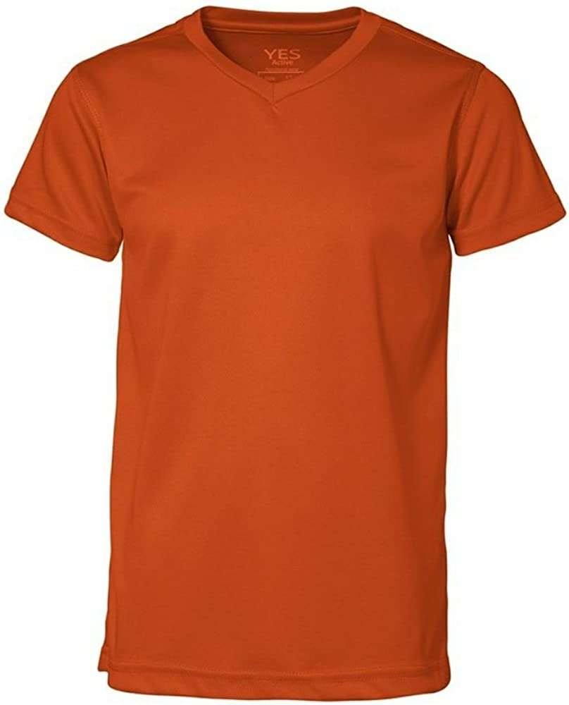 ID Childrens//Kids Yes Active Short Sleeve V-Neck T-Shirt