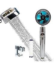 Chuveiro de mão com hélice de alta pressão, portátil, 360°, ducha giratória, economiza água, kit turbo com filtro e interruptor