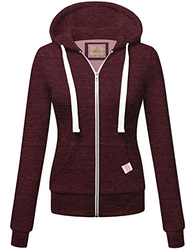 Womens Basic Zip Up Hoodie S 3XL