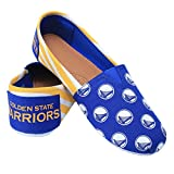 2016 NBA Womens Basketball Ladies Canvas Slip-On Logo Summer Shoes - Pick Team (Golden State Warriors, Medium)