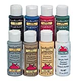 Apple Barrel Non-Toxic Multi-Purpose Acrylic Paint Set, 2 oz Bottle, Assorted Color, 8