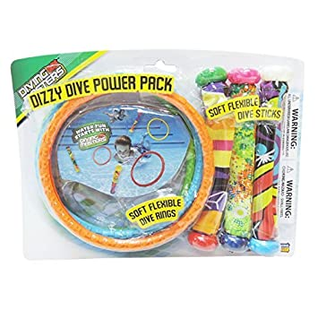 4 Pack Pool Dive Toys Diving Masters Dizzy Dive Rings Prime Time Toys