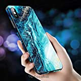 cocomii fancy glass marble iphone 8 plus/7 plus case, slim thin glossy soft flexible tpu silicone