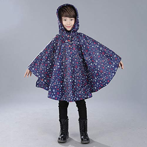 Gotian Children's Cloak Waterproof Children's Poncho Raincoat (Multicolor L)